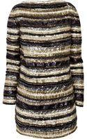 Balmain Embellished Silk Dress - Lyst
