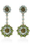 Oscar de la Renta Flower Drop Earring - Lyst