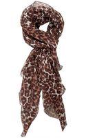 Luisa Via Roma Chiffon Leopard Print Scarf - Lyst