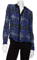 A.L.C. Exclusive Gillian Printed Blouse Blue - Lyst