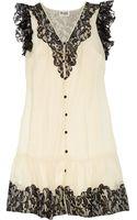 Alice By Temperley Vanita Lace And Silk-Chiffon Dress - Lyst