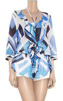Emilio Pucci Nastri Printed Cotton and Silk-blend Tunic - Lyst
