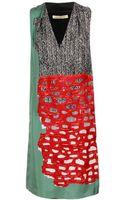 Balenciaga Multi-printed Silk Twill Dress - Lyst