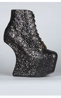 Jeffrey Campbell The Night Lita Shoe in Black Glitter (exclusive) - Lyst