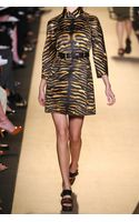 Michael Kors Tiger-Print Cotton-Satin Trench Coat - Lyst