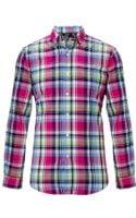 Polo Ralph Lauren Custom Fit Plaid Sport Shirt - Lyst