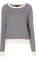 Topshop Knitted Stripe Stitch Top - Lyst