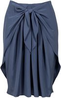 3.1 Phillip Lim Draped Tie Front Skirt - Lyst