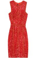Elie Saab Sequin and Lace Dress - Lyst