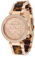Michael Kors Rose Gold Tortoise Watch - Lyst