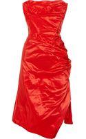 Vivienne Westwood Gold Label Corseted Silk-taffeta Dress - Lyst