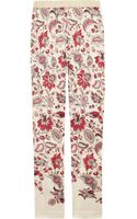 Clements Ribeiro Printed Silk Skinny Pants - Lyst