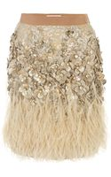 Matthew Williamson Lacquer Lace Feather Skirt - Lyst