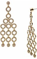 Michael Kors Golden Chandelier Earring with Pave Detail - Lyst