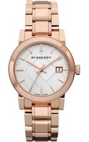 Burberry Rose Gold-plated Stainless Steel Watch - Lyst