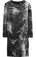 McQ by Alexander McQueen Printed Stretch Silk-satin Dress - Lyst