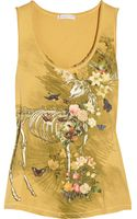 Paul & Joe Sister Small Deer Printed Cotton-jersey Tank - Lyst