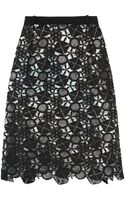 Preen By Thorton Bregazzi Latex Lace Lined Skirt - Lyst