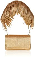 Christian Louboutin Artemis Fringed Texturedleather Shoulder Bag - Lyst