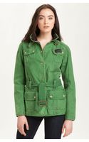Barbour Belted Waxed Cotton Jacket - Lyst