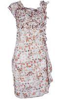 High Printed Dress - Lyst