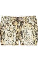 Isabel Marant Irox Snake-Print Corduroy Shorts - Lyst
