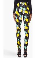 Proenza Schouler Floral Print Skinny Pants - Lyst