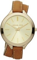 Michael Kors Doublewrap Leather Watch Goldenhorn - Lyst
