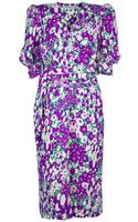 Givenchy Vintage Floral Wrap Dress - Lyst