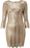 Tfnc Scalloped Sequin Dress - Lyst