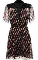 Anna Sui Black Toothbrush Patterned Dress - Lyst