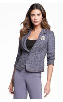 St. John Collection Fitted Tweed Jacket - Lyst
