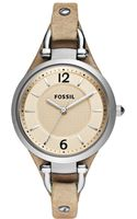Fossil Sand Leather Strap 32mm - Lyst