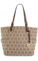 Michael Kors East West Signature Tote - Lyst