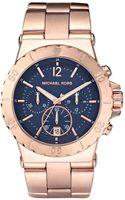 Michael Kors Chronograph Rose Gold Tone Stainless Steel Bracelet 43mm - Lyst