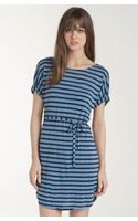 Splendid Belted Nautical Stripe Dress - Lyst