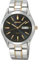 Seiko Mens Solar Two Tone Stainless Steel Bracelet 36mm Sne047 - Lyst