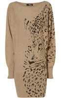 Jane Norman Leopard Batwing Dress - Lyst