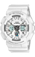 G-shock Mens Analog Digital Matte White Resin Strap Watch - Lyst