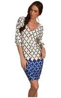Tibi Nadia On Jersey Vneck Dress - Lyst
