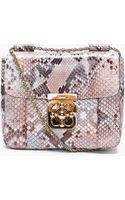 Chloé Python Skin Elsie Evening Bag - Lyst