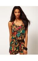 ASOS Collection Asos Playsuit in Chain Print - Lyst