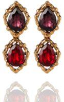 Oscar de la Renta Drop Stone Clip Earring - Lyst