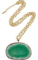 Isharya 18karat Goldplated Druzy Necklace - Lyst