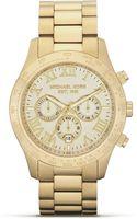 Michael Kors Round Gold Watch 45mm - Lyst