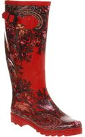 Office Nutty Knee Welly Red Floralpais - Lyst