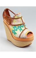 Missoni Wedges Peep Toe Platform - Lyst