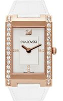 Swarovski Womens Swiss Citra White Croc Embossed Leather Strap - Lyst