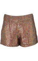 Topshop Premium Sequin Shorts - Lyst