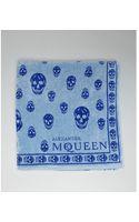 McQ by Alexander McQueen Light Blue Skull Print Terry Cloth Beach Towel - Lyst